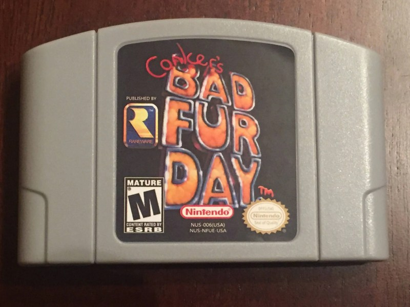 Conker s Bad Fur Day Reproduction Nintendo 64 Game  N64