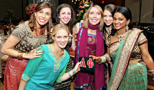 How to Dress for Indian Weddings   EverAfterGuide If you choose not to wear the traditional Indian attire  remember to avoid  baring the shoulders  or wearing low cut tops  skirts or other revealing  pieces
