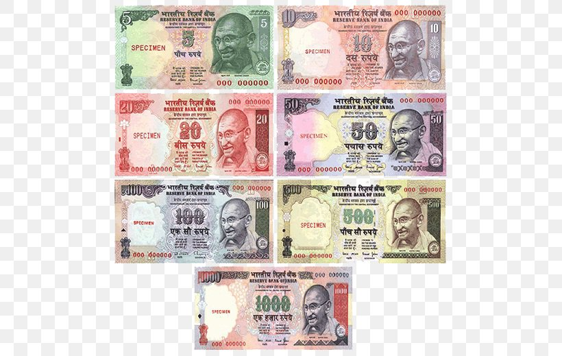 Indian Rupee Currency Banknote Exchange Rate, PNG ...