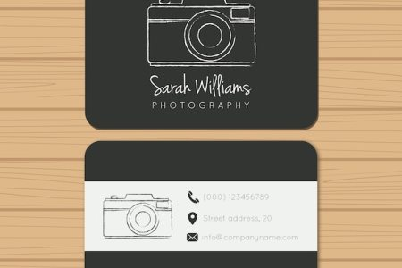 Photography Business Card Vectors  Photos and PSD files   Free Download Black photography business card
