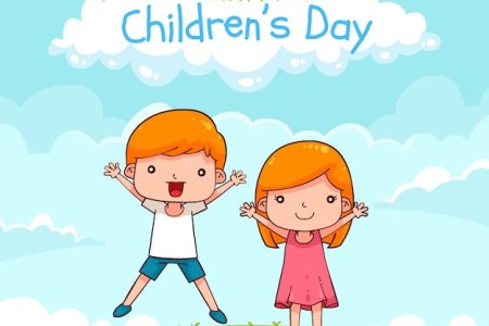 Children Vectors  Photos and PSD files   Free Download Childrens day design with jumping boy