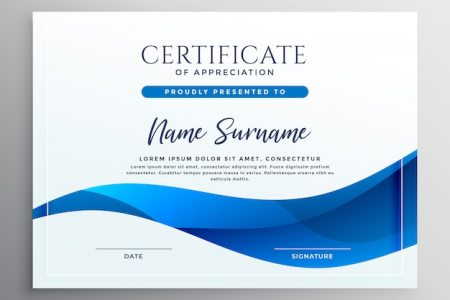 Certificate Backgrounds Vectors  Photos and PSD files   Free Download Elegant blue qualification certificate design