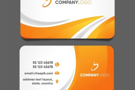 Business Card Vectors  Photos and PSD files   Free Download Modern business card template with abstract design