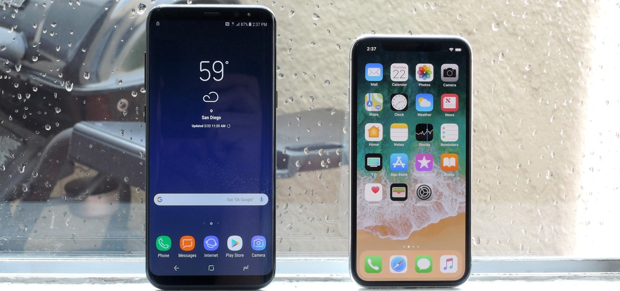 Apple vs  Samsung  How Does the iPhone X Stack Up Against the New     Apple vs  Samsung  How Does the iPhone X Stack Up Against the New Galaxy S9
