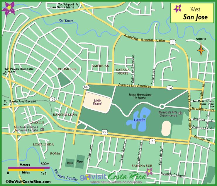 De Mapa San Monteverde Costa Jose Rica