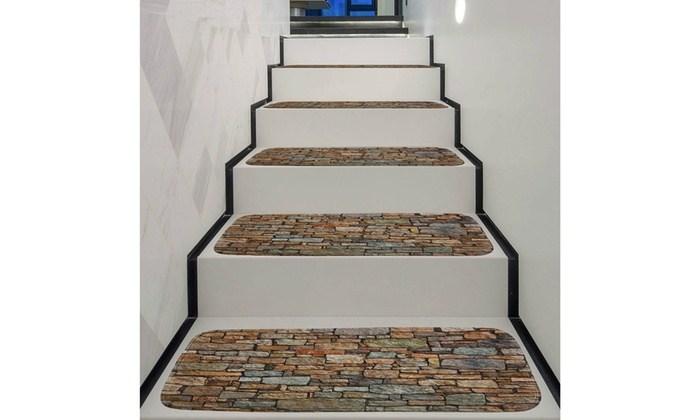 1Set Non Slip Coral Fleece Resistant Carpet Stair Mat Groupon   Non Slip Carpet For Stairs   Trim   Laminate   Wood End Cap   Step   Rubberized