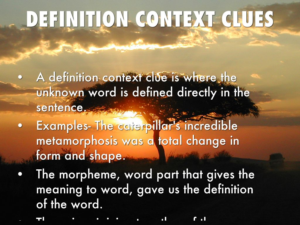 Context Clues by M Taylor