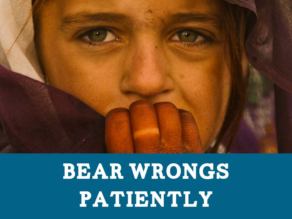 bear wrongs patiently spiritual works of mercy - HD 1024×768