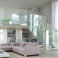 Hot Sale Tempered Glass Circular Staircase Steel Glass Railing   Tempered Glass Stair Railing   Hand Rail   Glass Design   Toughened Glass   Staircase   Round Staircase