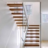 Low Price Fashionable Small Space Wood Tread With Spigot Glass | Glass For Stairs Price | Laminated Glass | Stairwell | Glazed | Outdoor | Toughened