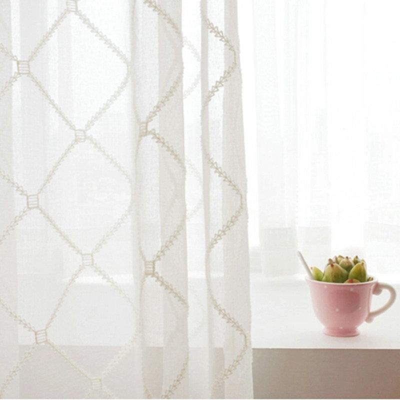One Panel European Sheer Curtains Advanced Customization