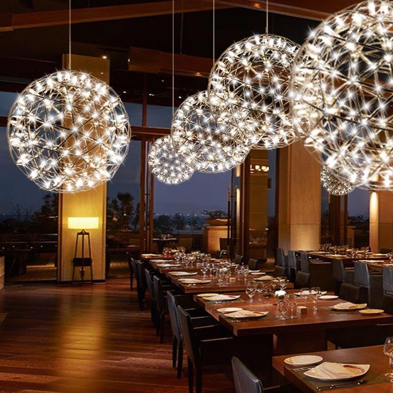 Led Ceiling Light Ball Pendant Light 42 Leds Modern Energy