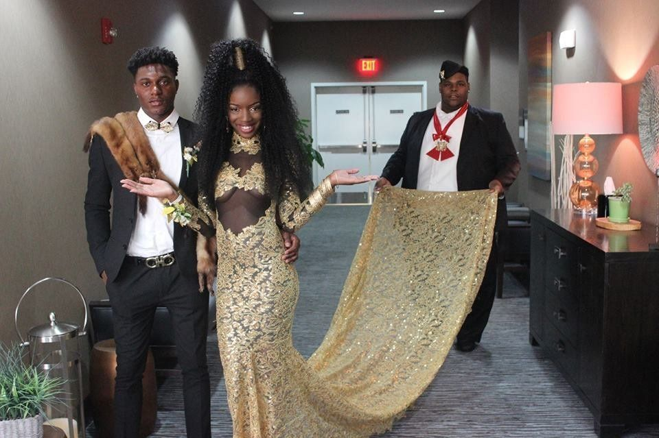 Coming America African Themed Prom Dress