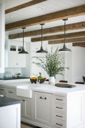 14 Stylish Ceiling Light Ideas for the Kitchen   Hunker kitchen ceiling lights