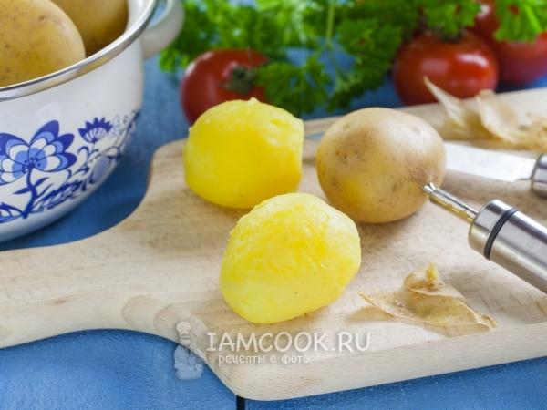 Вареная картошка в мундире — рецепт с фото пошагово