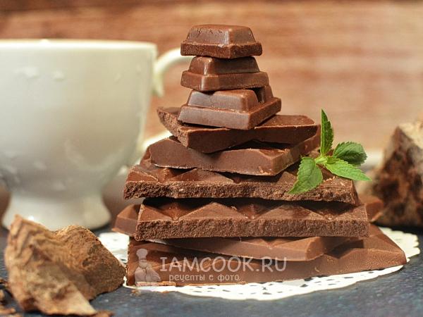 Үйде сүт шоколады - біртіндеп фотосурет бар рецепт