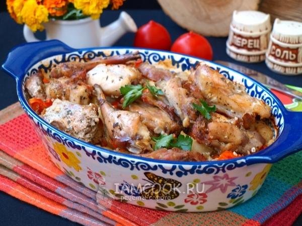 Nyúl recept burgonyával a sütőben