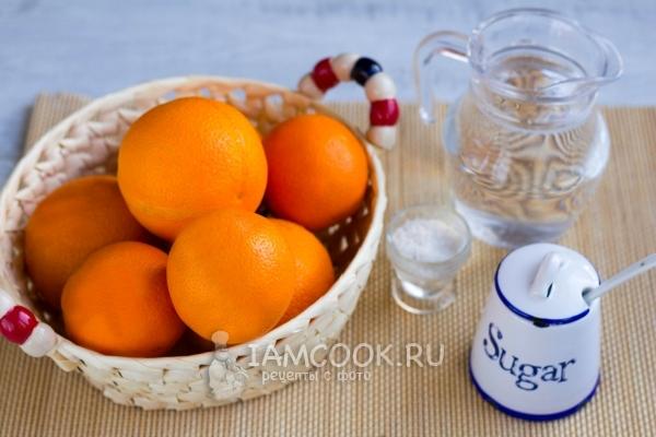 自宅のオレンジ色の地殻からのズカットのための原料
