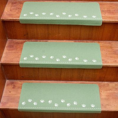 Stair Treads Carpet Non Slip Mats Pad Self Adhesive For Child Pet | Padded Carpet Stair Treads | True Bullnose Carpet | Carpet Runners | Staircase Makeover | Dog Cat Pet | Stair Risers