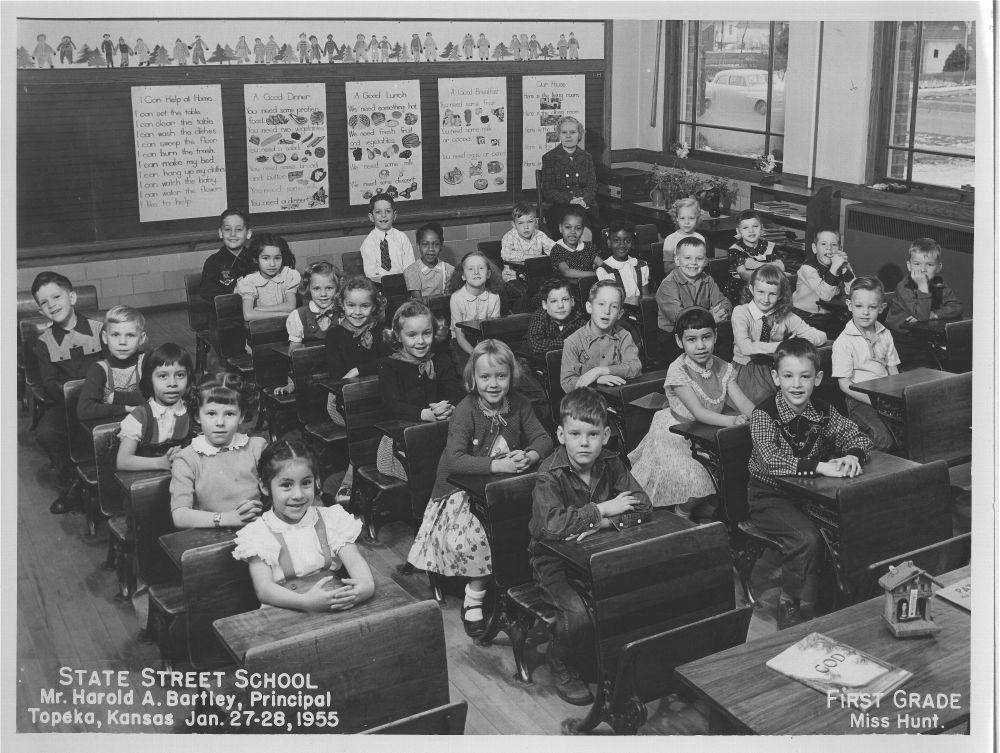 First grade class at State Street School, Topeka - Kansas ...