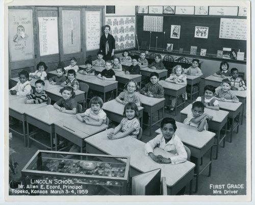 First grade at Lincoln School, Topeka, Kansas - Kansas ...