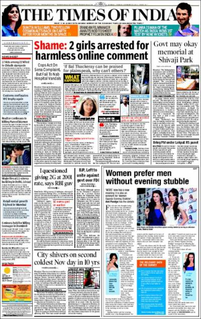 Newspaper The Times of India (India). Newspapers in India ...
