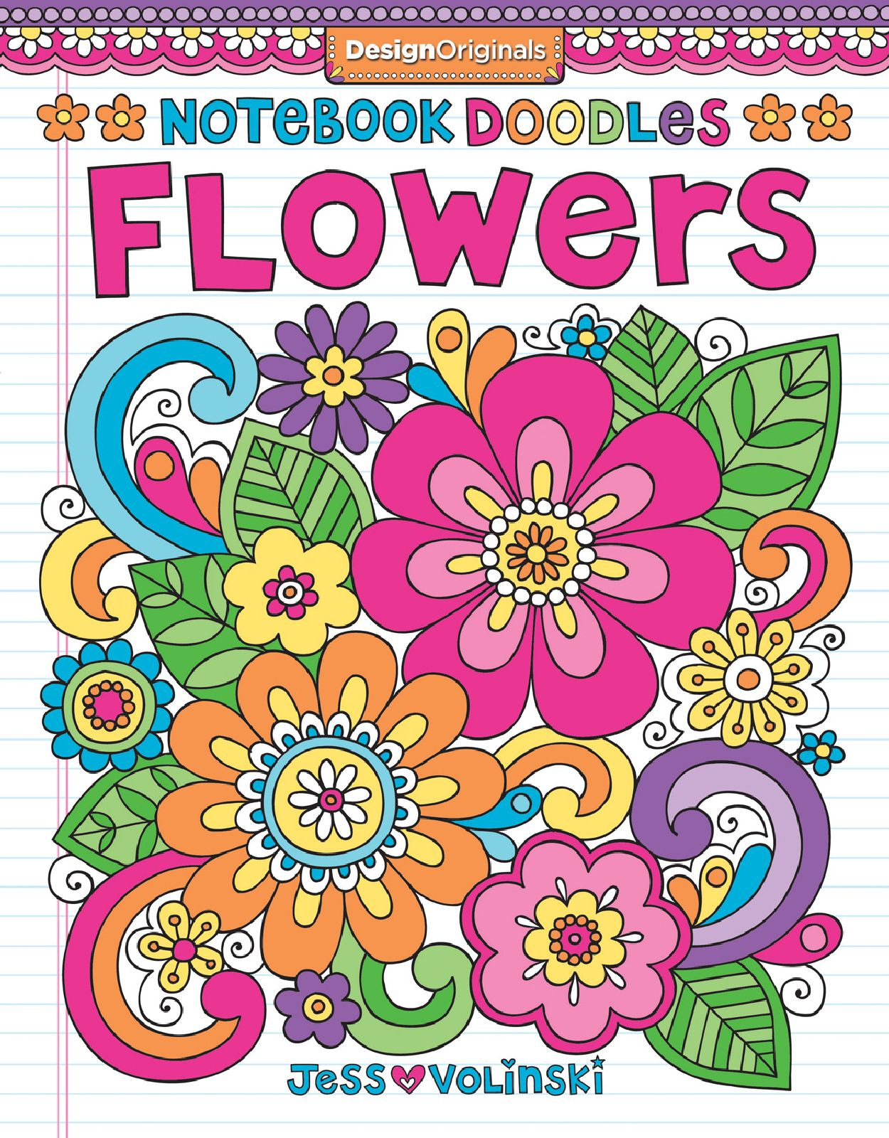 Doodles Flowers Coloring Activity Book