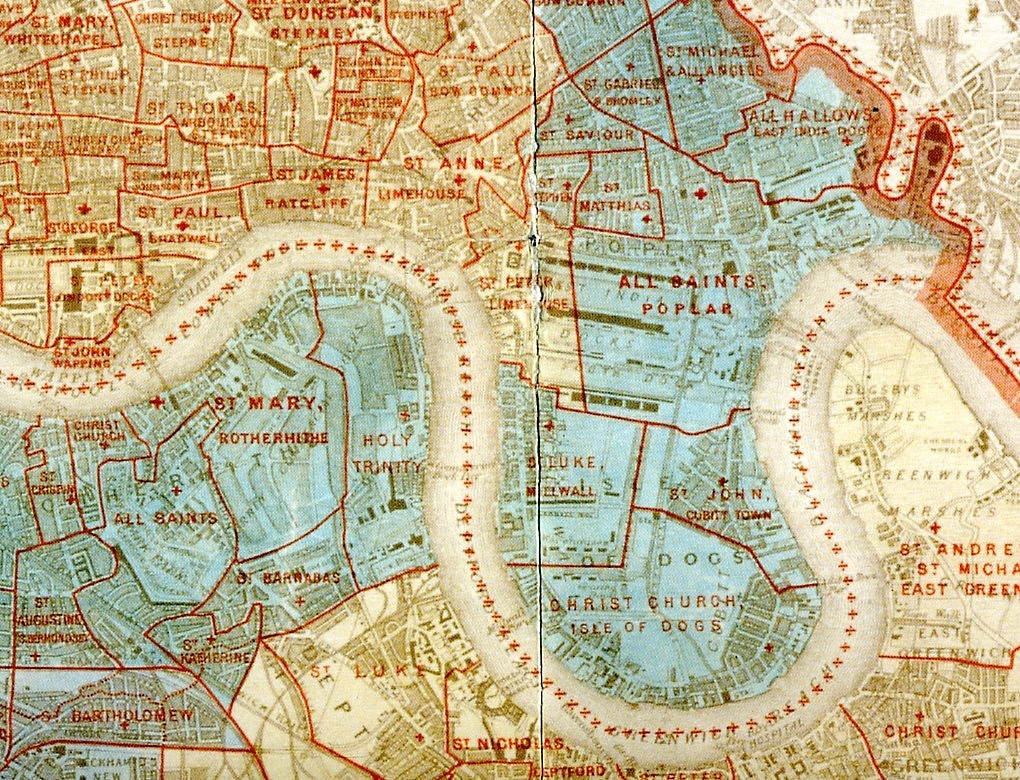 ParishRegister com A Map of the Ecclesiastical Divisions within the County of London 1903  The  map shows all Church of England parish boundaries in the London County  Council
