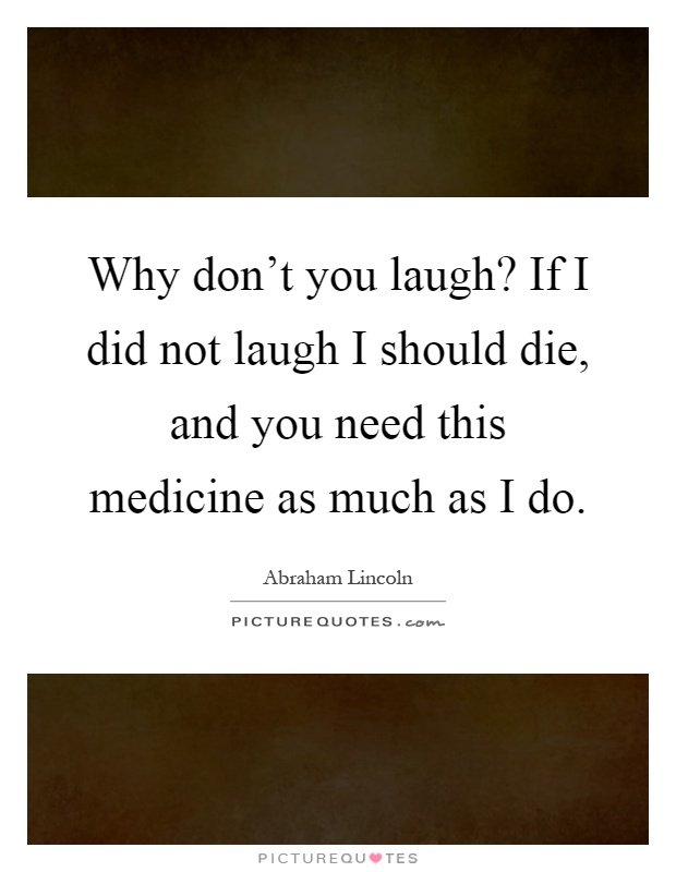 Why Should We Laugh