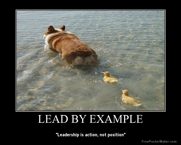 Leading Example Funny Quotes