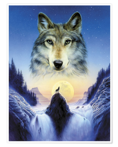 Cosmic Wolf Posters And Prints Posterlounge Co Uk