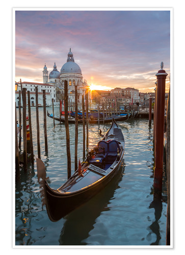 Gondola And Basilica Venice Posters And Prints