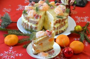 Мандариновый торт на Новый год - фото шаг 32