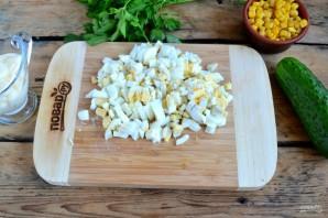 Crab σαλάτα συνταγή κλασική - φωτογραφία βήμα 3