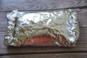 Pork skinke bakt i ovnen i folie - Foto Trinn 7
