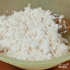 एक धीमी कुकर में रोल के लिए चावल - फोटो चरण 4
