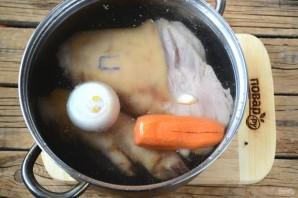 Penjaga dari roda stereng daging babi - Foto Langkah 4