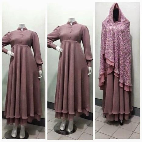 30 Model Gamis Seragam Muslimat Fashion Modern Dan Terbaru