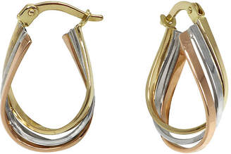 Tri Color Gold Hoop Earrings   ShopStyle     JCPenney FINE JEWELRY Tri Color 14K Gold Triple Hoop Earrings