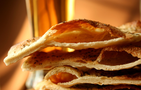 Crispy Beer Flat Bread Recipe Genius Kitchen