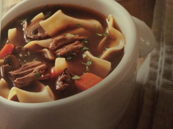 Old Fashioned Beef And Noodle Soup Recipe Genius Kitchen