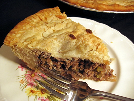 Tourtiere French Canadian Meat Pie Dairy Free Recipe