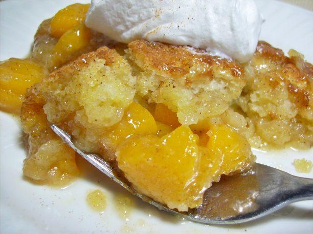 Peaches Cobbler Using Canned Recipe Peach