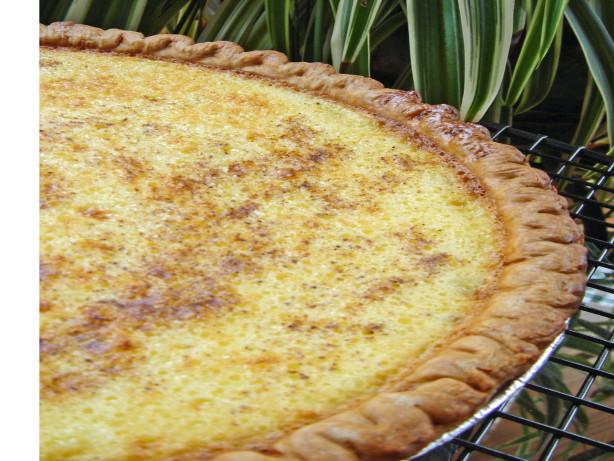 Grandmas Egg Custard Pie Recipe Food Com