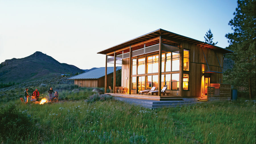 Small Cabin Lives Big Sunset Magazine