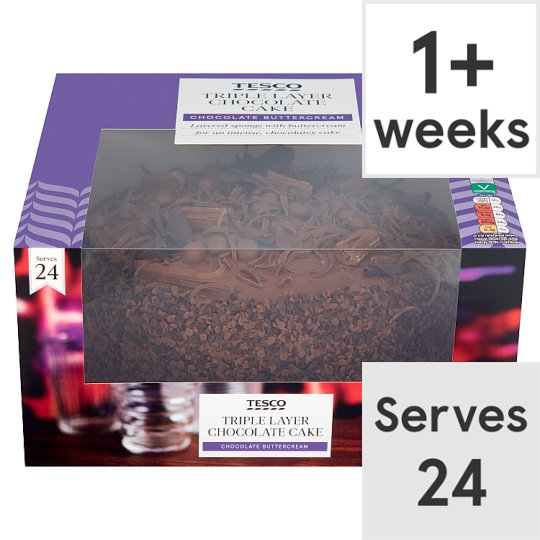 Tesco Triple Layer Chocolate Cake Tesco Groceries