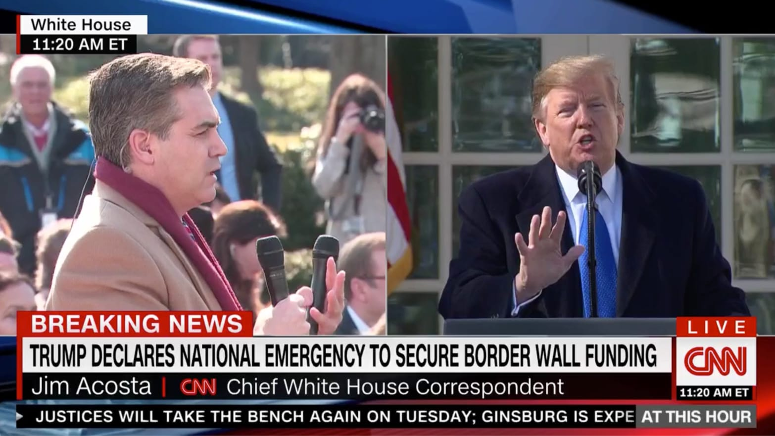 Trump Spats With CNN's Jim Acosta During National ...