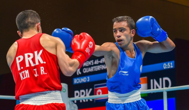 Asian Games  Boxers Vikas  Amit in semis  ensure medal   Asian Games     Asian Games  Boxers Vikas  Amit in semis  ensure medal