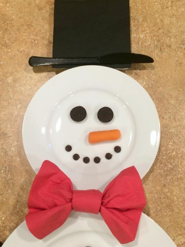 Making A Snowman Place Setting Thriftyfun