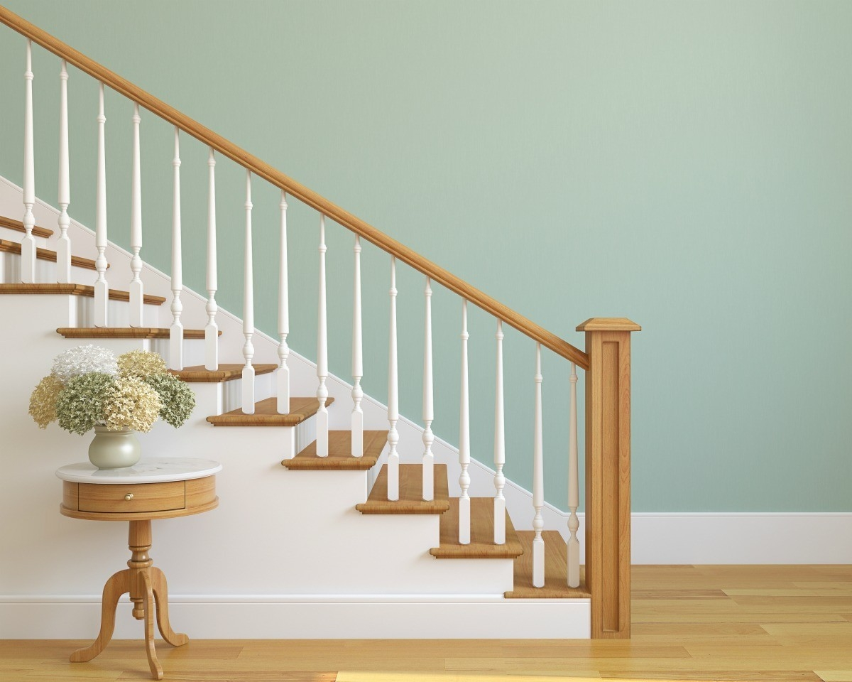 Cleaning A Wood Banister Thriftyfun | Wooden Banisters And Railings | Stairwell | Small | Industrial | Balcony | Dark Walnut